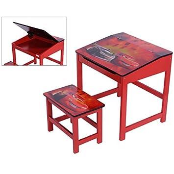 Kinder Schreibtisch mit Hocker Disney Cars Kindermöbel Maltisch ...