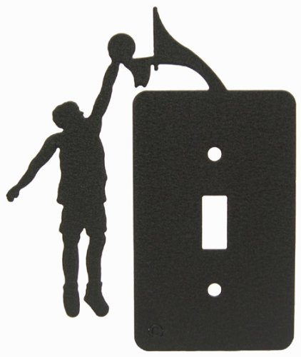 Basketball Boys Single Light Switch Plate Cover
