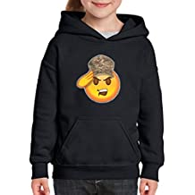 Xekia Emoji Soldier Army Strong Glitter Hoodie For Girls - Boys Youth Kids