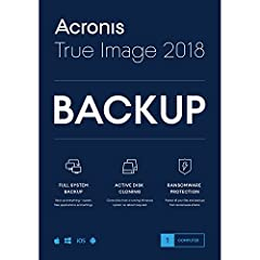 Acronis True Image: The most reliable, easy-to-use and secure personal backup software - and the only one that actively protects your files against ransomware. Over 5.5 million customers worldwide trust Acronis to protect data from their Wind...