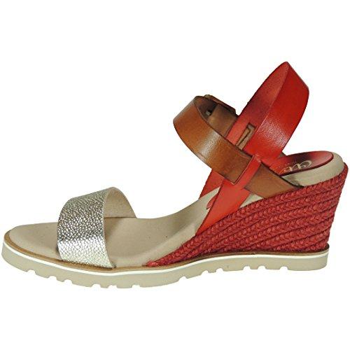 Abril shoes SandaliasCueroBlanco Y RojoCuña: 6 cm Colecciones baratas en línea Costo de venta barato Búsqueda de descuento ymZT16Cupl