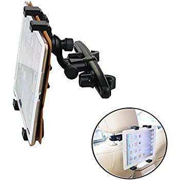 holders Tablet Holder for Car 360° Degree Adjustable Rotating Headrest Car Seat ount Holder Automobile Universal For iPad, iPad Air, iPad Mini, Samsung Galaxy 7 inch to12.9 inch Kid Video Tablet