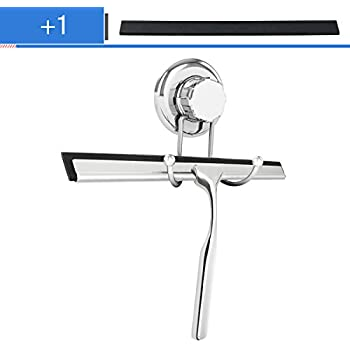 Shower Squeegee, TAPCET Stainless Steel Window Squeegee For Bathroom  Mirror, Window Glass Cleaning With