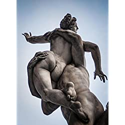 LAMINATED 24x32 Poster: Statue Italy Sabinas Monument Europe Architecture Italian Sculpture Famous Tourism Travel History Old Marble City European Building Symbol Historic Culture Piazza