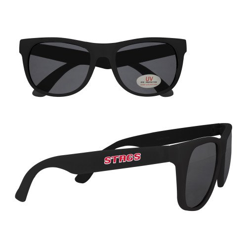 CollegeFanGear Fairfield Black Sunglasses 'Stags' -