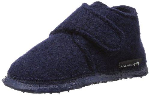 Nanga Leila - Zapatos de primeros pasos de lana bebé - unisex, color azul, talla 23