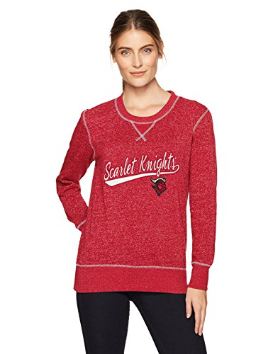 (NCAA Rutgers Scarlet Knights Women's Ots Seneca Crew Neck Pullover, Small, Red)