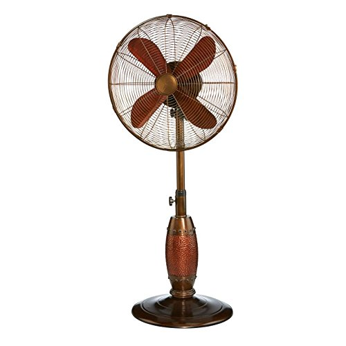 DecoBREEZE Adjustable Height Oscillating Outdoor Pedestal Fan, 18 In, Coppertino