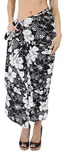 Hawaiian da Usura n762 Gonna Aloha LA Costume Nero Bikini Crociera Resort LEELA Sarong Bagno Coprire 8vTwtq