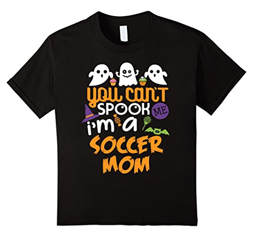 Soccer Mom Halloween Costumes (Kids Soccer Mom Halloween Costume Party Can't Spook Me T-Shirt 12 Black)