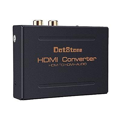 DotStone HDMI Audio Extractor Splitter HDMI to HDMI + Optical Audio TOSLINK SPDIF +Digital Analog RCA L / R Stereo Audio Splitter Converter(HDMI Input,HDMI+ Toslink/Digital Analog Audio Output) by HTR007