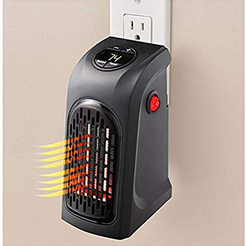 Vaughenda Space Heater Handy Heater for Home and Office, Mini Ceramic Heater Adjustable Electric Heater Fan with Thermostat, US Plug, 400w by Vaughenda (Image #3)