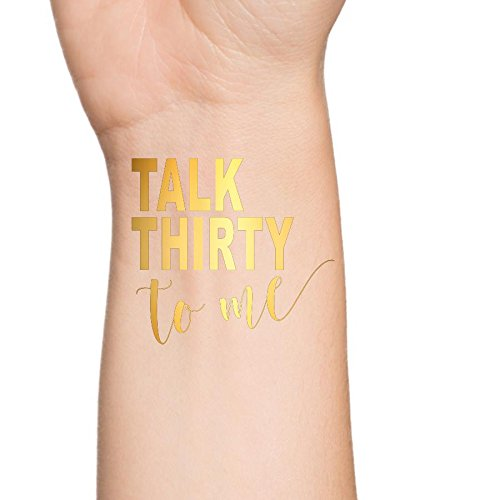 Talk Thirty to Me, Temporary Tattoo, Flash Tattoo, 30th Birthday Party Temporary Tattoo (Set of (30th Gag Gifts)