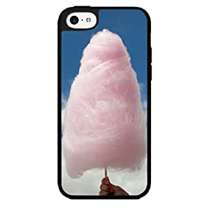 Pink Fluffy Cotten Candy in Bright Blue Sky Hard Snap on Phone Case (iPhone 5c) by lolosakes