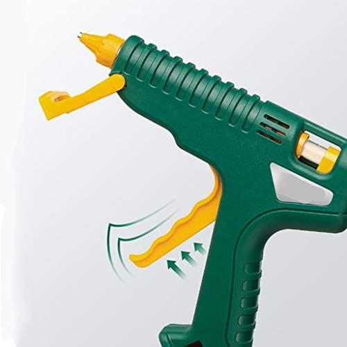 Minmin ホットメルト接着ガン、ハイパワー100Wヘビーデューティ接着ガン、ホームスクール子供大人アートプロジェクト、高速修復のために、クリスマスの装飾、グリーンを充電 ミニ (Color : Green)