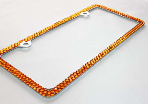 Amazon.com: Hotblings 2 Row Full ORANGE Cover Crystal Bling Sparkle ...
