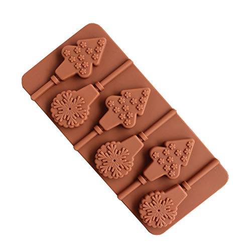 DIY Christmas Tree Snowflake Lollipop Chocolate Ice Cube Silicone Baking Mold kitchen accessories