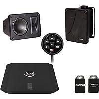 Kicker KB6000 Black Outdoor Speakers with DUB 480 Watt Amplifier & MB Quart N1-WBT Bluetooth Receiver/Controller
