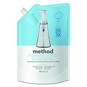 Method Naturally Derived Foaming Hand Wash Refill, Sweet Water, 28 oz. (Pack of 6)