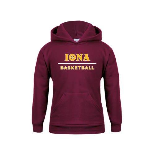 Iona Youth Maroon Fleece Hoodie Basketball
