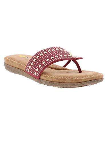 Temptress Asymetrical Wine Women's Studded Sandal Volatile 5EnxBwq8n