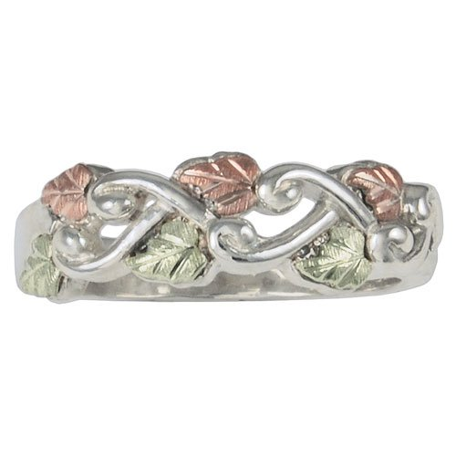 Grape Vine Black Hills Silver Women's Ring from Coleman - Size 4.5