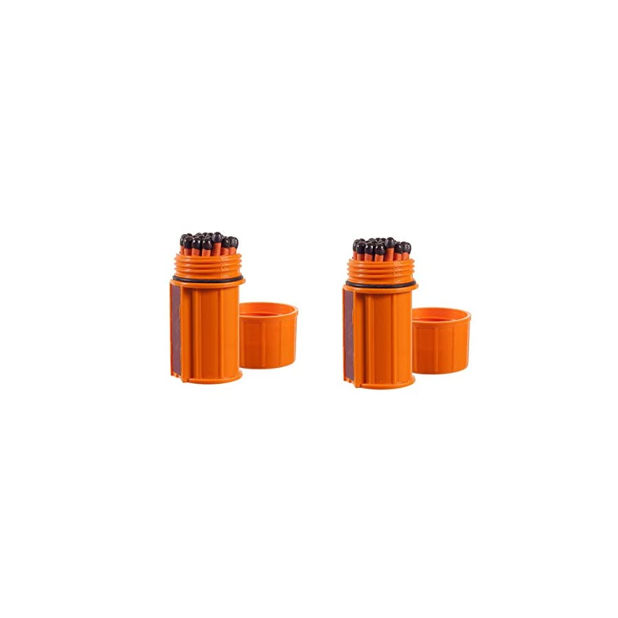 UCO Stormproof Match Kit with Waterproof Case, 25 Stormproof Matches and 3 Strikers (Orange (2 Pack))