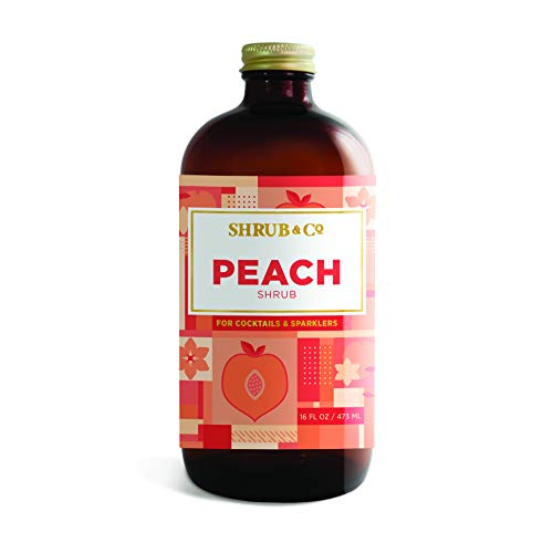 (Shrub & Co Peach Shrub - Fruit-Driven Mixers for Cocktails, Sparklers, and Club Sodas, 16 fl.)