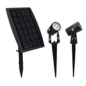 Findyouled Solar Spotlight, Waterproof Outdoor Solar Lights Landscape Lighting Wall Light Auto On/ Off for Yard Garden Driveway Pathway Pool Tree Patio