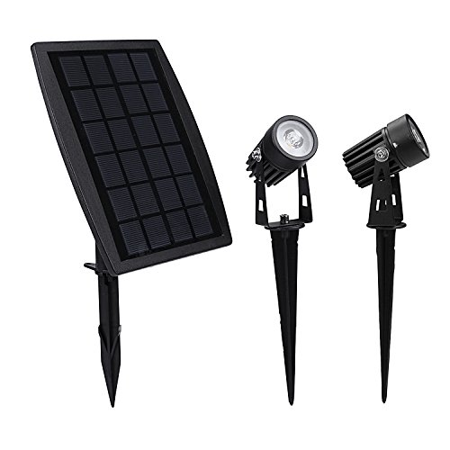 Findyouled Solar Spotlight, Waterproof Outdoor Solar Lights Landscape Lighting Wall Light Auto On/Off for Yard Garden Driveway Pathway Pool Tree Patio
