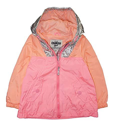 Osh Kosh B'Gosh Baby Girls' Infant Pink & Coral Windbreaker Jacket, Pink, 12M