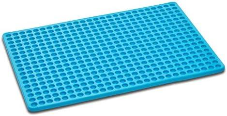 Songway Silikon Backmatte BPA-frei hitzebeständig 446 ℉ / 230 ℃ Schokoladenform Mini Backform für Haustier Kekse Fleisch Backen Kalorienreduzierung (Blue)