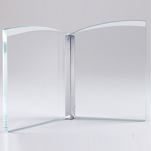 Crystal Open Book, includes Personalization (Optical Crystal Book Award)
