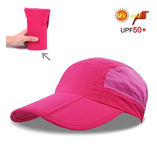 無地 全8色 [ユニセックス] 折り畳み UVカット ローキャップ メッシュ スポーツ ゴルフ キャップ 帽子  サイズ調整 48-62cm 長いつば 通気性?速乾性?携帯便利 アウトドア 紫外線対策