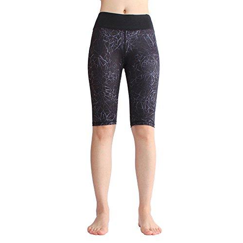 SOUTEAM Women Yoga Casual Printed Kneeth Shorts Teen Girls Athletic Fitness Knee Length Printed Pocket Leggings
