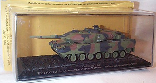 Deagostini 1:72 Diecast Model Tank - Leopard 2 A5 Einsatzbataillon 1 Mechanisiertes Baterie Orahavac Kosovo 2000 Army Tank #5