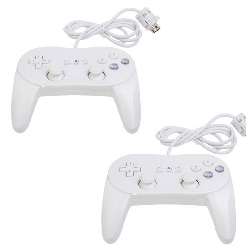 Zettaguard 2 Pack Controller White for Wii,classic Console Gampad Gaming Pad Joypad Pro for Nintendo Wii 2 Pack