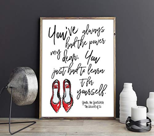 Dozili You'Ve Always Had The Power My Dear You Just Had to Learn It for Yourself Glinda The Good Witch The Wizard of Oz Feminist Quote Art Print]()