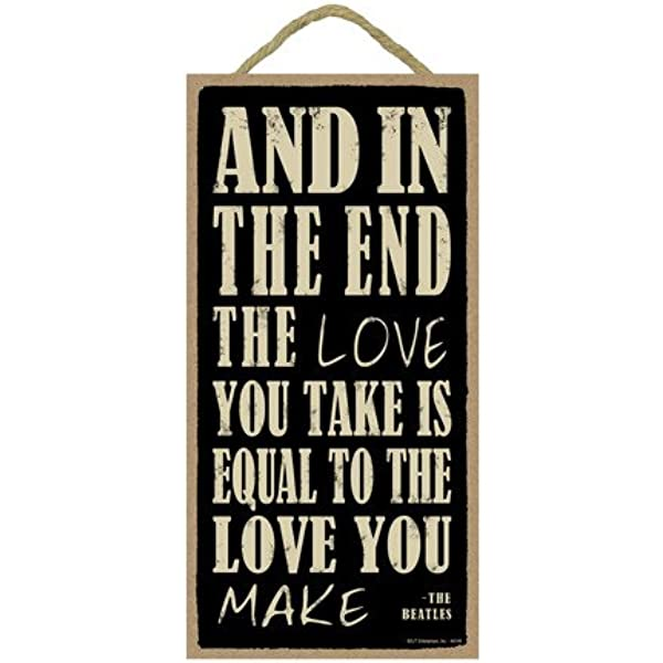 Love is All You Need The Beatles /5 x 10 Primitive Wood Plaque Sign SJT94559 Love All You Need is Love INC SJT ENTERPRISES