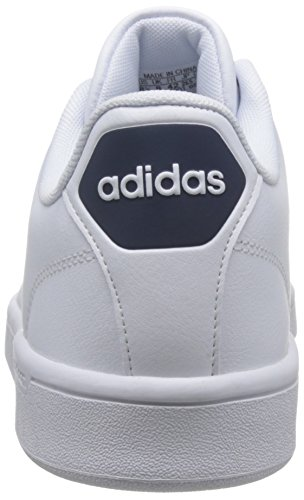 adidas Men's Cf Advantage Cl Running Shoes, Blue Off White (Ftwr White/Collegiate Navy)