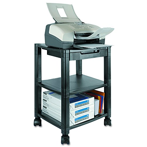 Table 3 Shelf Office (Kantek 3-Shelf Desk-Side Mobile Printer Stand with Organizing Drawer, 17