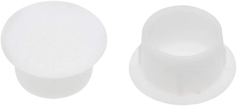 color blanco Sourcingmap Tapones para estante 12 mm, pl/ástico