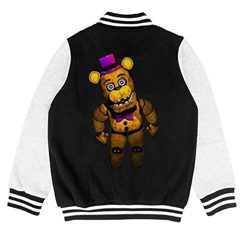 Five-Funny-Nights-at-Freddy- boy Baseball Jacket Cartoon Coat -