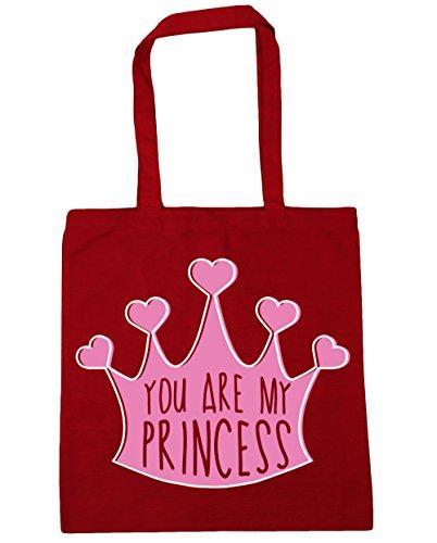 HippoWarehouse YOU ARE MY Princess bolsa de la compra bolsa de playa 42cm x38cm, 10litros Classic Red