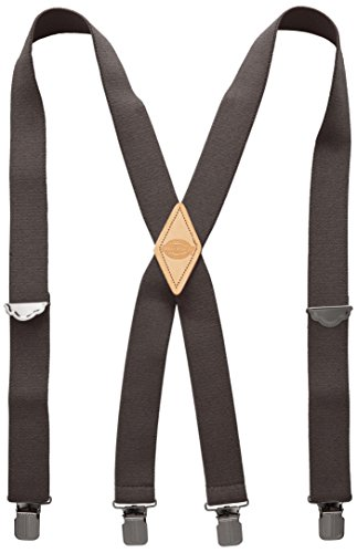 Dickies Men's 1-1/2 Solid Straight Clip Suspender,Charcoal,One Size by Dickies