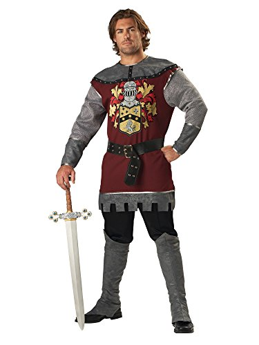 InCharacter Costumes Men's Noble Knight Costume, Silver/Burgundy, X-Large -