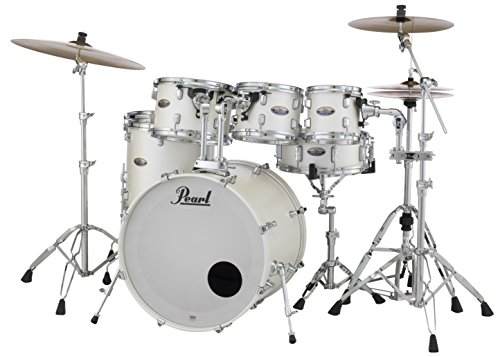 Pearl Decade DMP927SP/C229 7 Piece Drum Shell Pack, White Satin Pearl