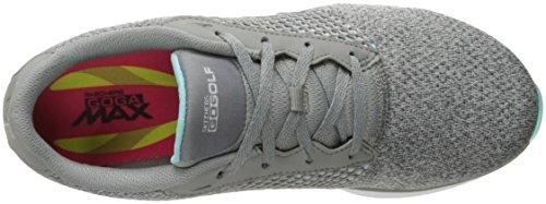 Golf Blue by Scramble Twinkle 8 Gray Skechers Toes Womens Go Performance Skechers Knit M Shoe US Birdie Golf R4vqfS4w