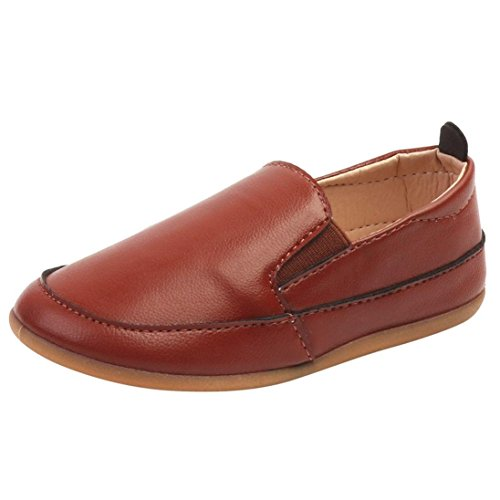 Boys Shoes for 1-9 Years Old,Baby Boy Kids Children Leather Soft Sole Slip On Loafers Casual Shoes Sneakers (4.5-5 Years Old, ()