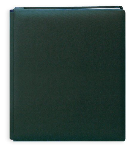 Pioneer 12 Inch by 15 Inch Postbound Family Treasures Deluxe Fabric Memory Book, Hunter Green